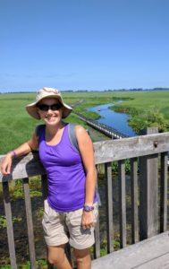 Jessi at Point Pelee National Park marsh