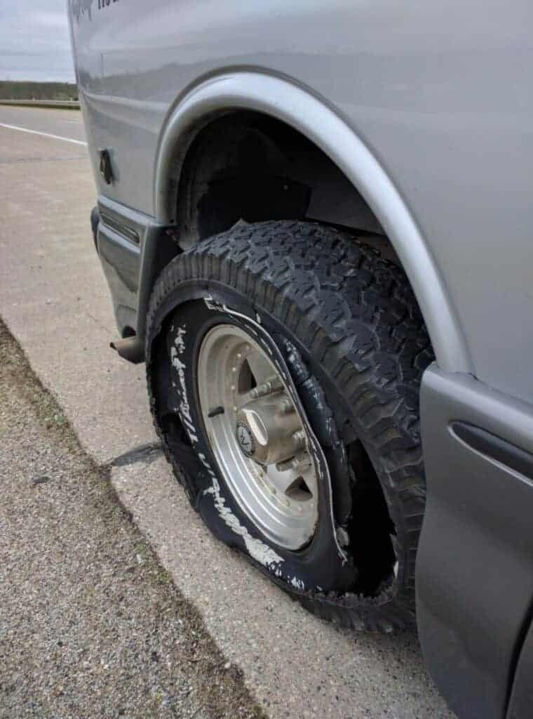tire pressure blowout