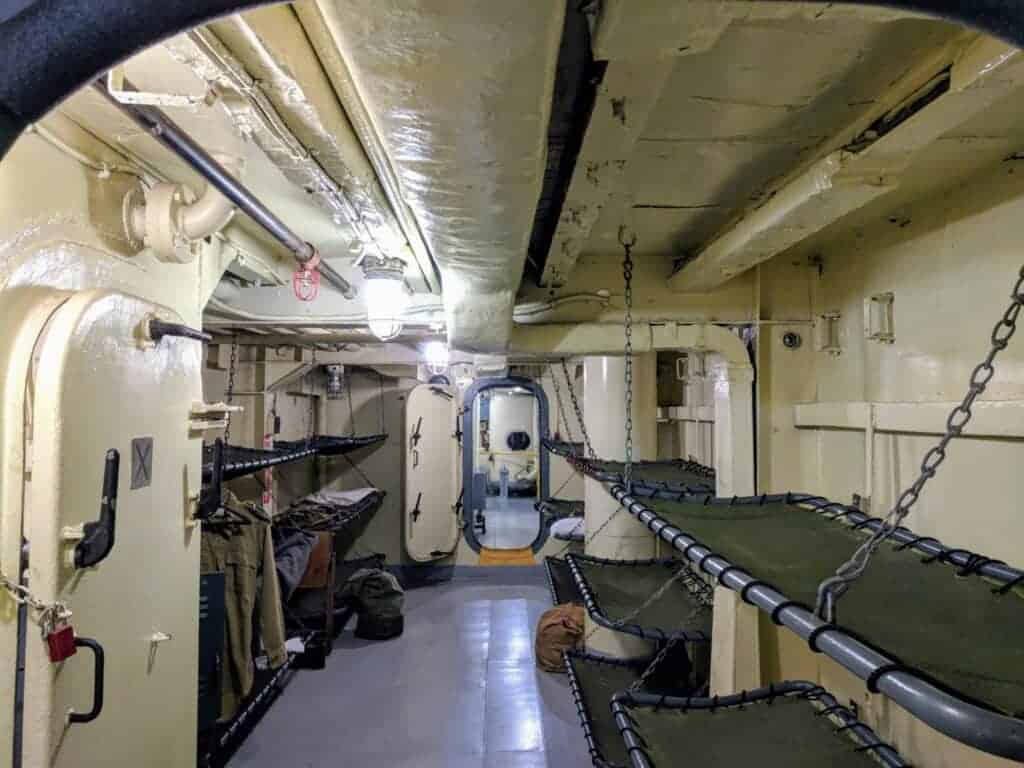 Berthing section of USS LST 393