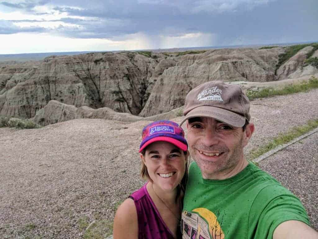 couple at Badlands