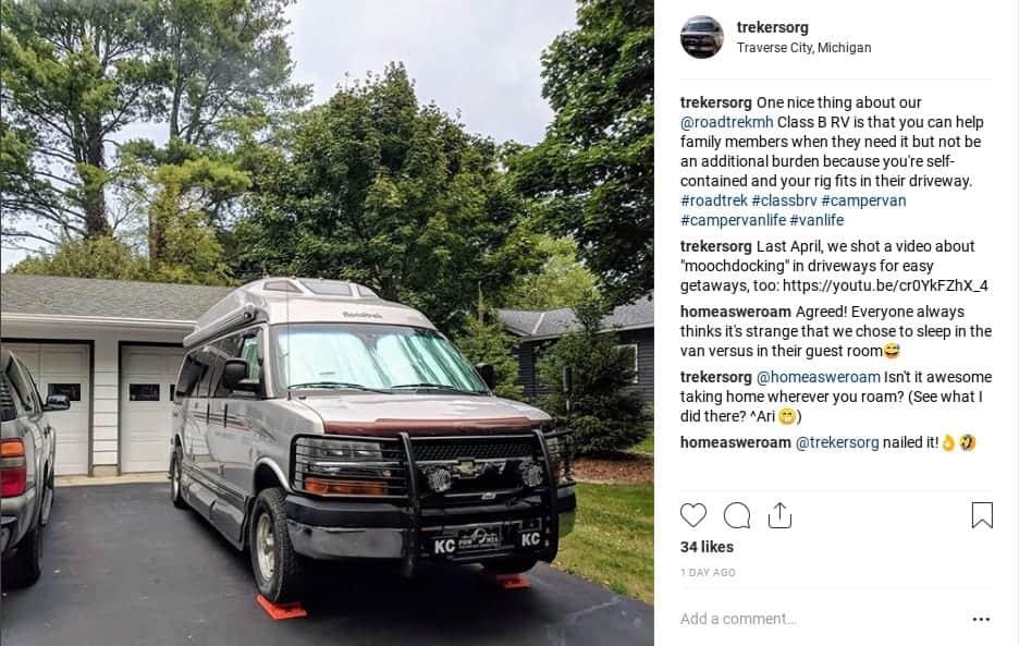 instagram post about van