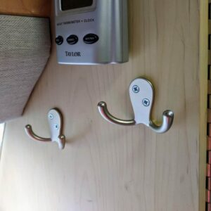 Heavy duty coat hooks