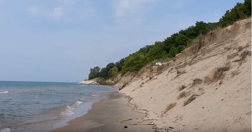 Grand Mere State Park beach