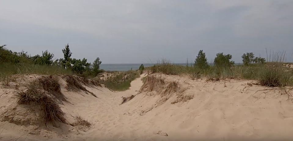 Sand dune overlooking Lake Michigan