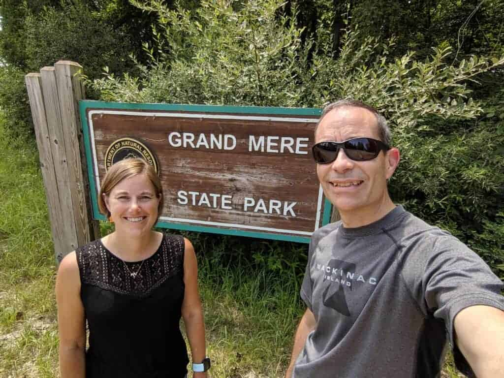 Grand Mere state park sign