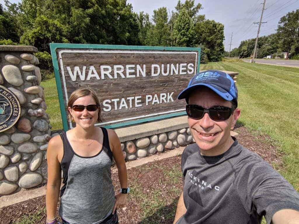 Warren Dunes state park sign