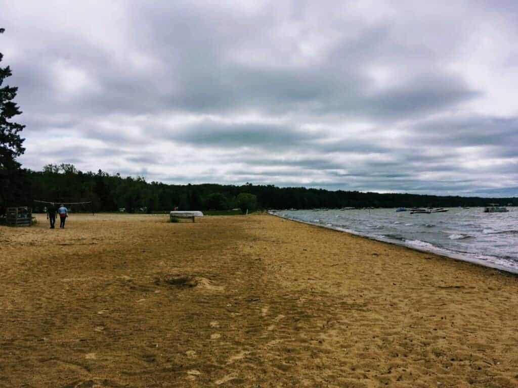 Beach at Burt Lake State Park