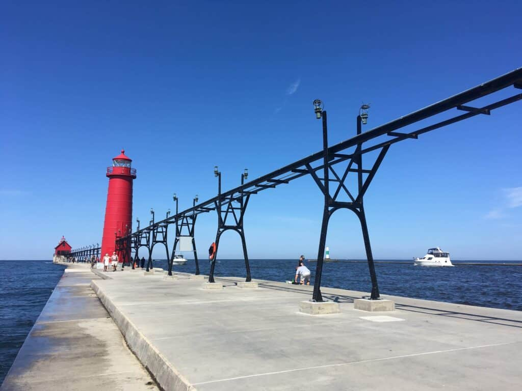Grand Haven Lighthouse and channel