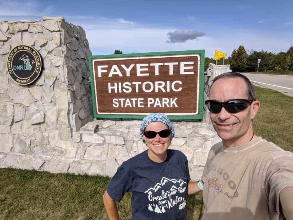Fayette State Park entrance sign