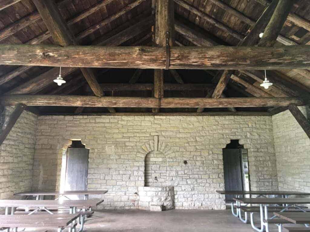 Inside CCC-built pavilion