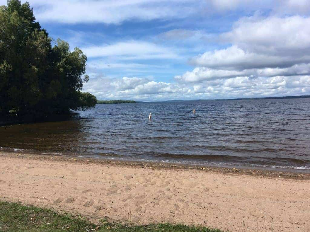 View of Lake Gogebic from the beach