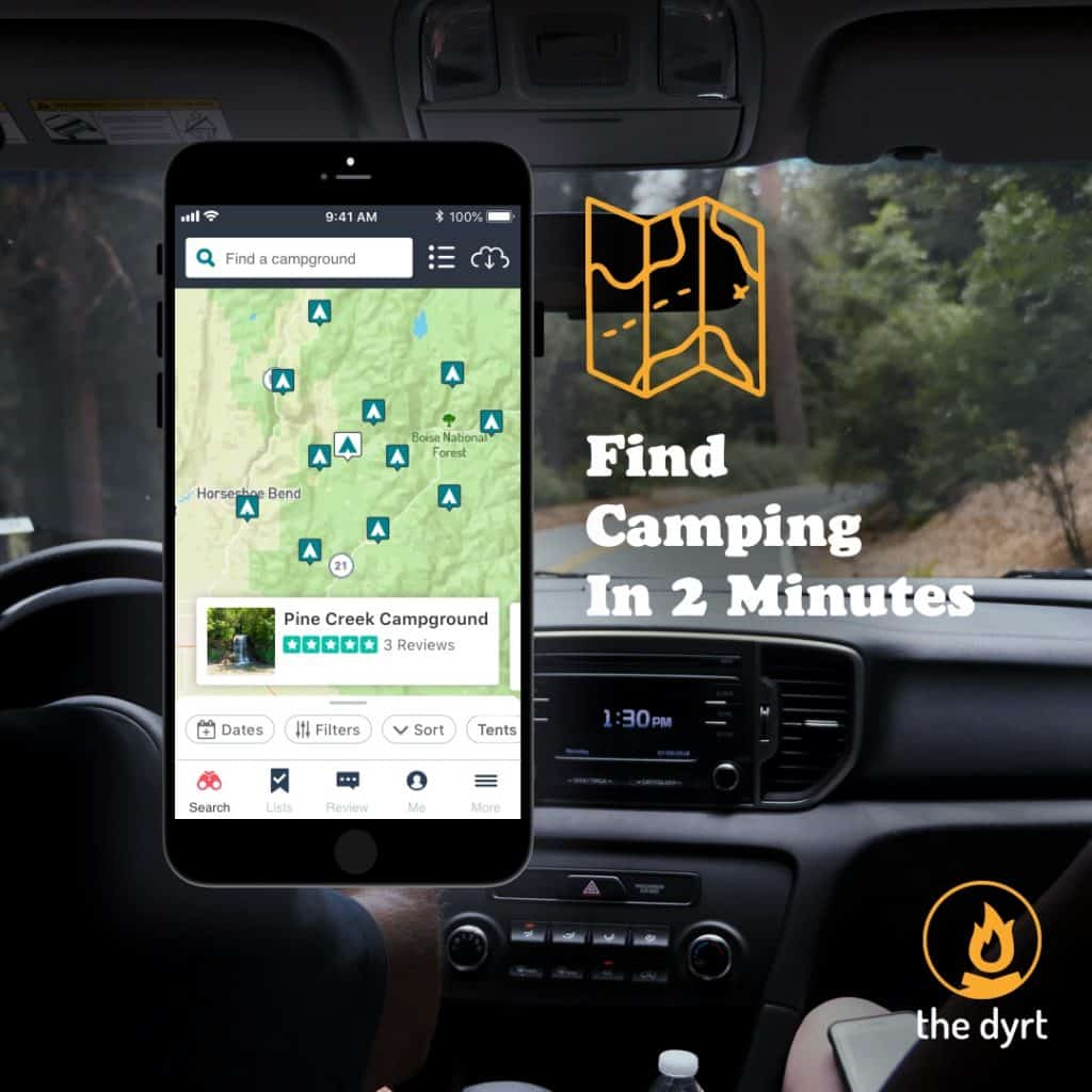 Find camping on the go without relying on spotty service. Offline maps, user-generated reviews, and discounts on gear and campgrounds.