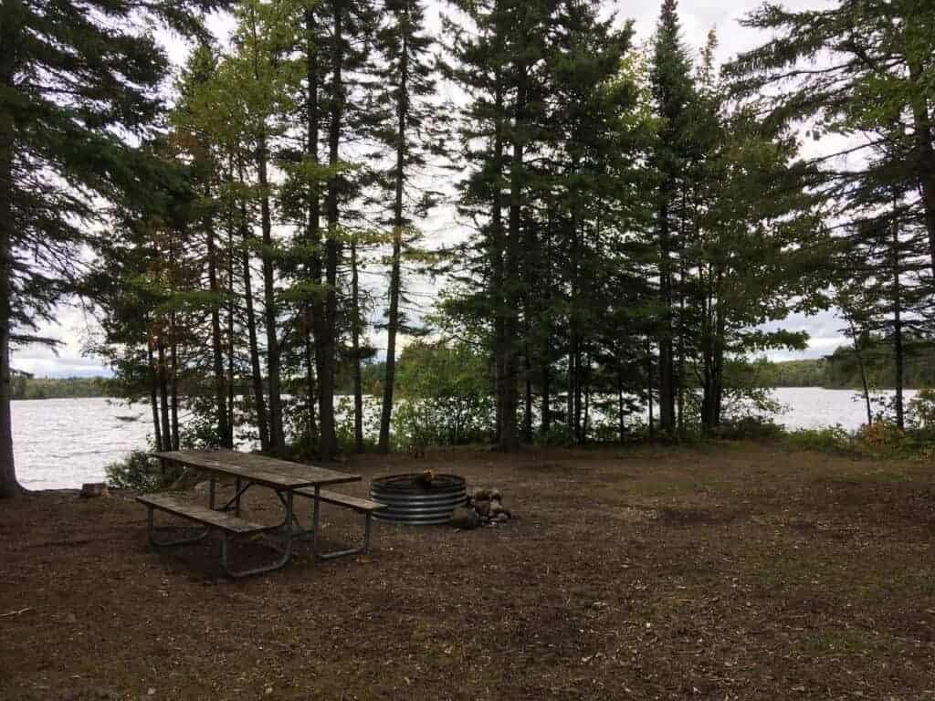 Lakeside tent site on Craig Lake