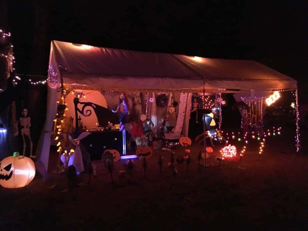 Halloween Decorations at Van Riper State Park