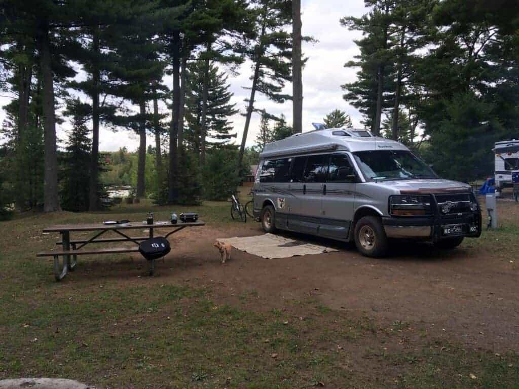 Camping at Van Riper State Park