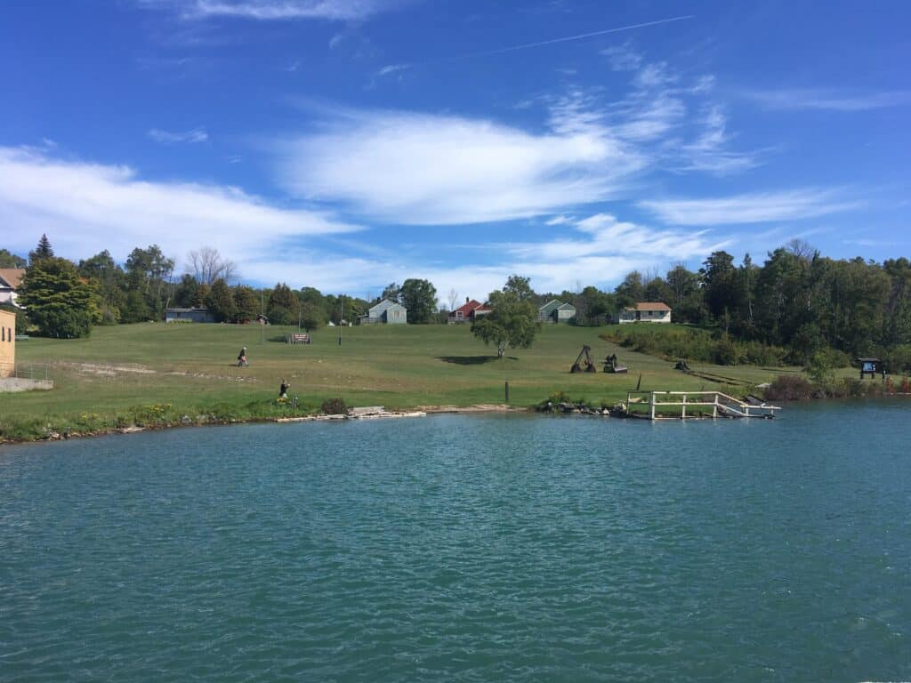 View of Lime Island Recreation Area from the water