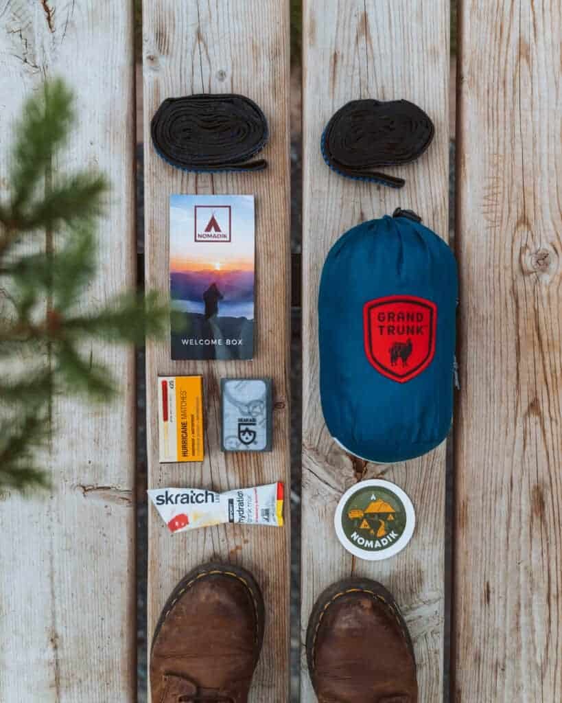 Click the photo above try the Nomadik -- a monthly subscription box filled with awesome hiking and  camping gear.