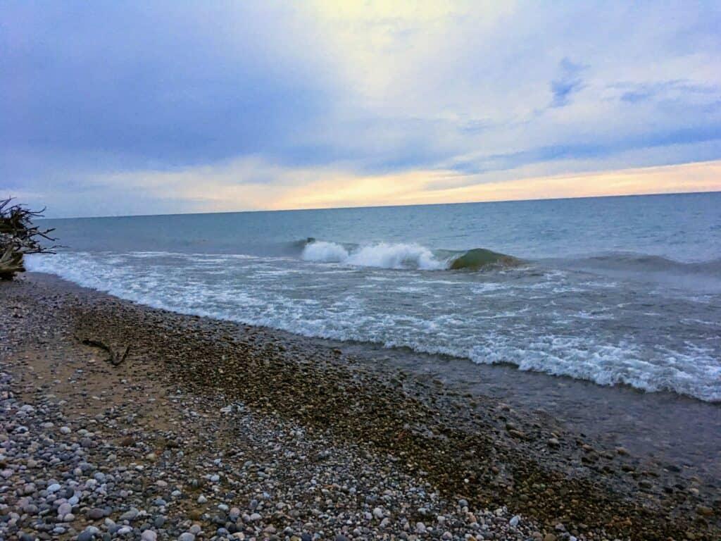 Rocky beach and Lake Superior