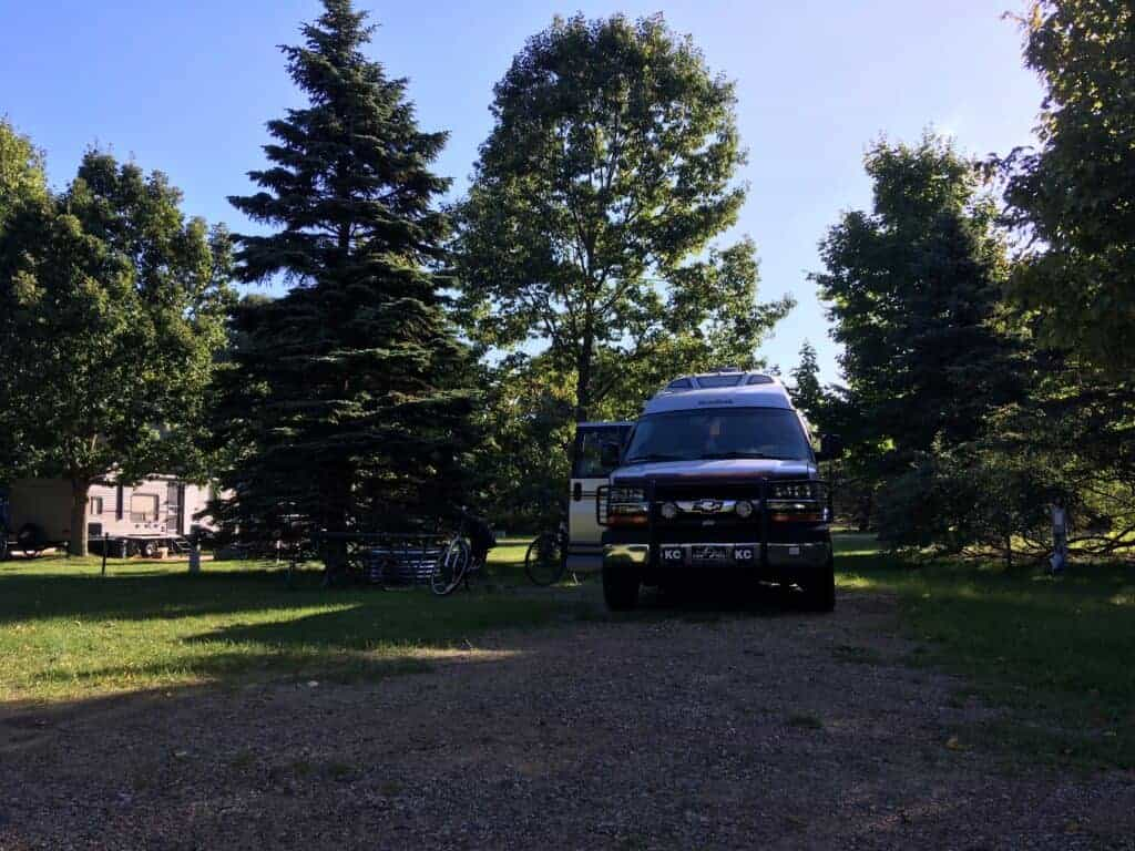 An RV at a campground