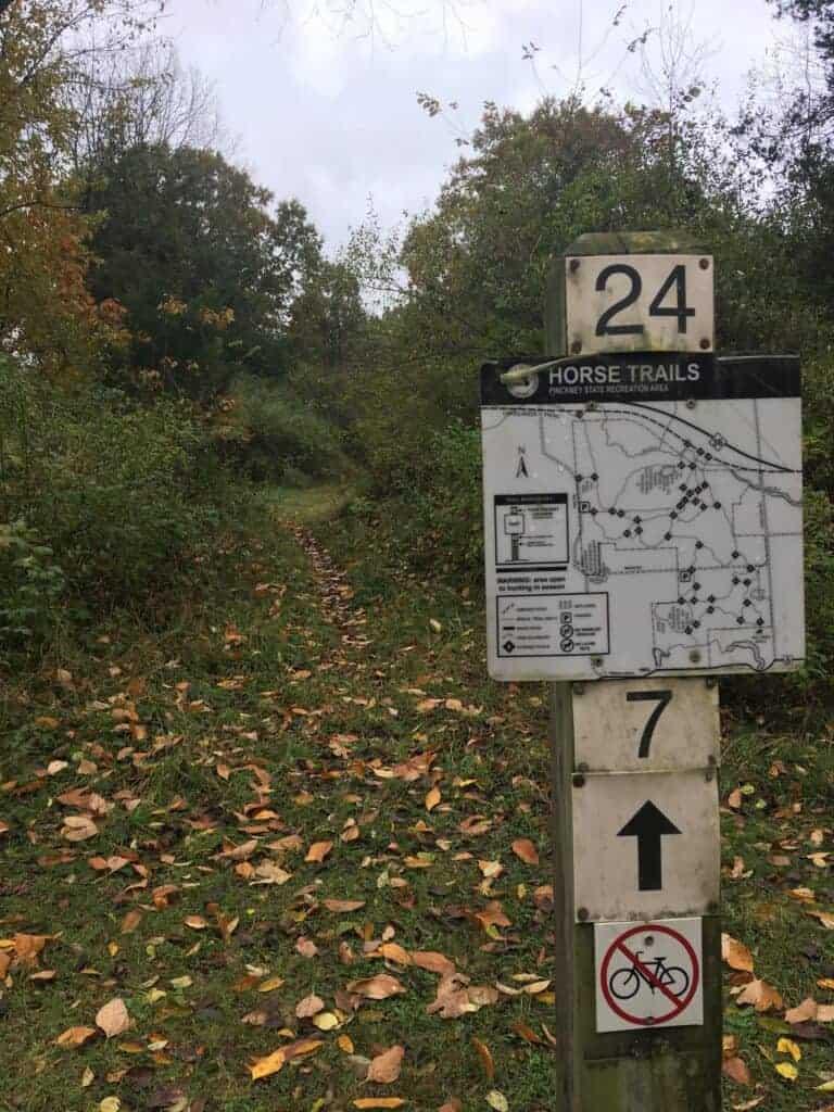 Trail navigation sign