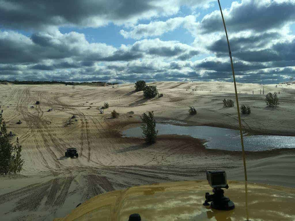 Sand dunes at Silver Lake State Park