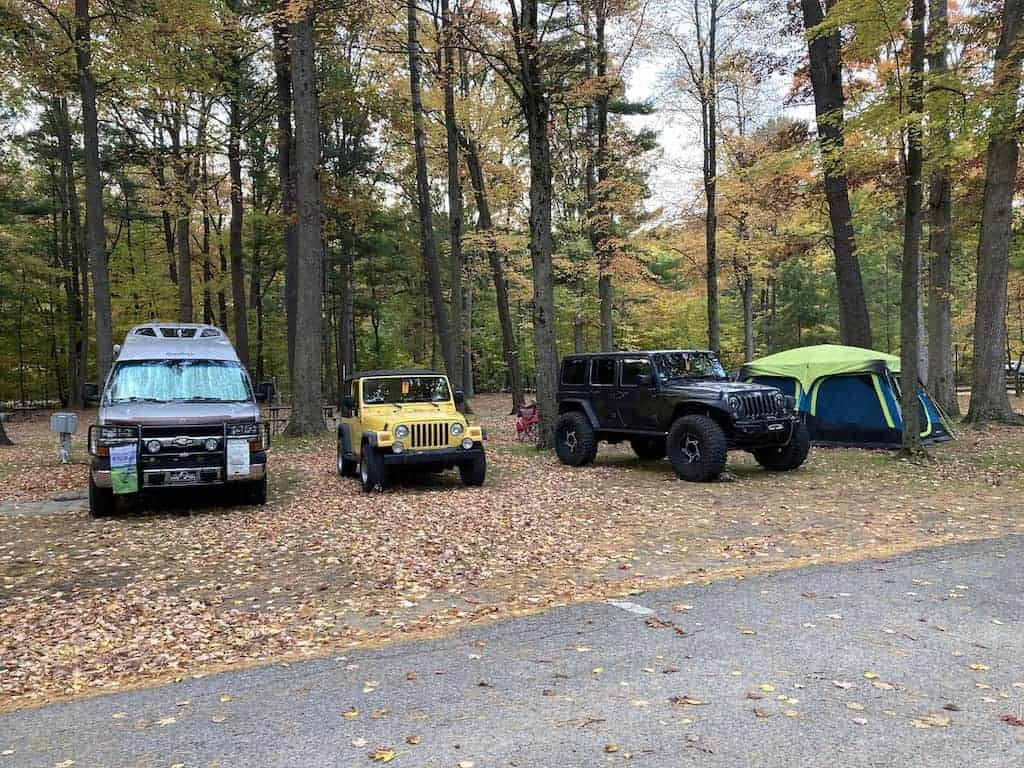 Tents and RVs at Silver Lake State Park