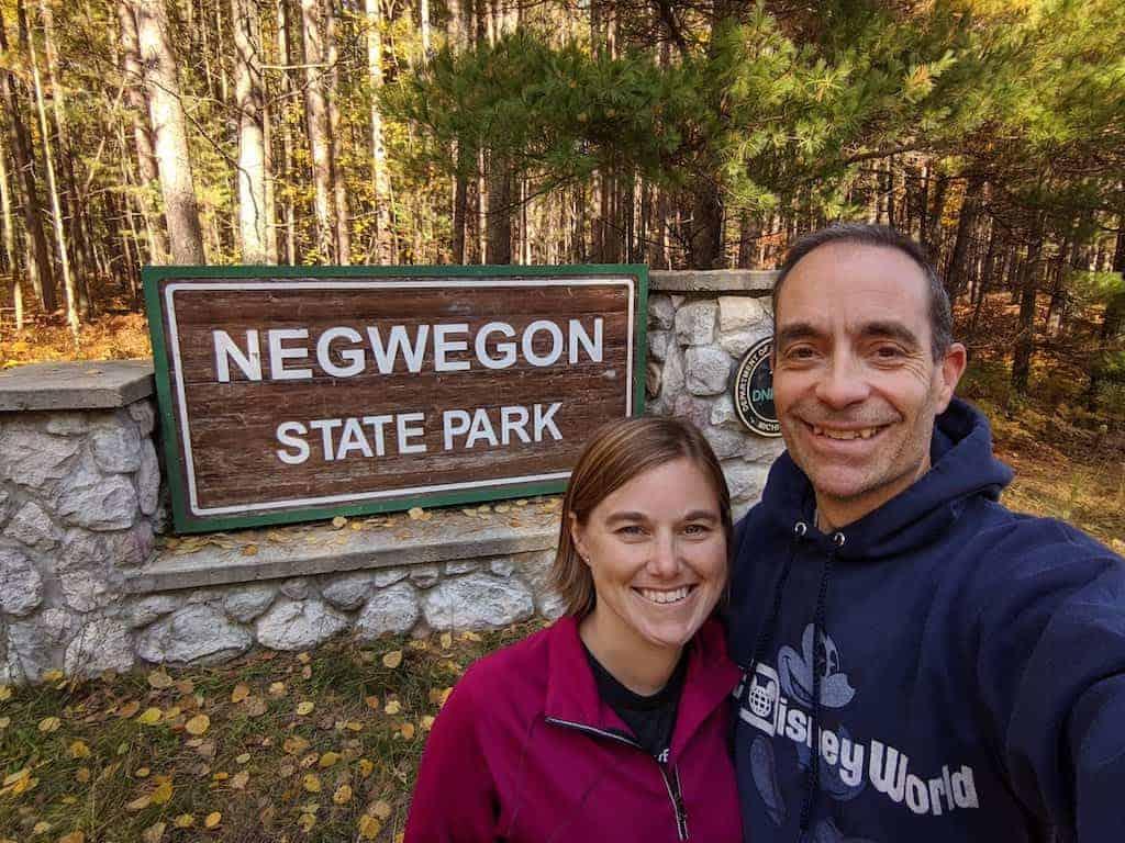 Negwegon State Park Entrance Sign