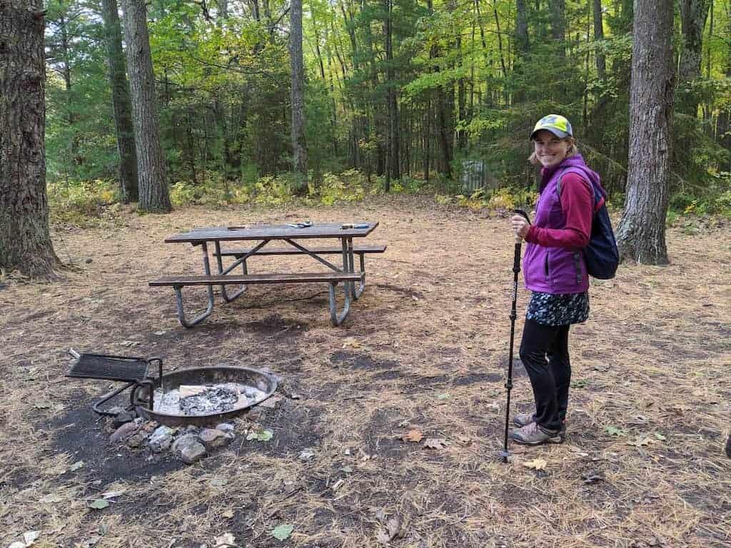 Campsite at Negwegon State Park