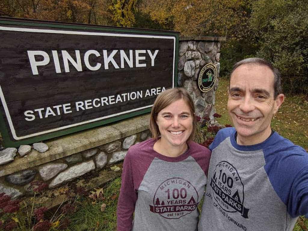 Pinckney State Recreation Area entrance sign