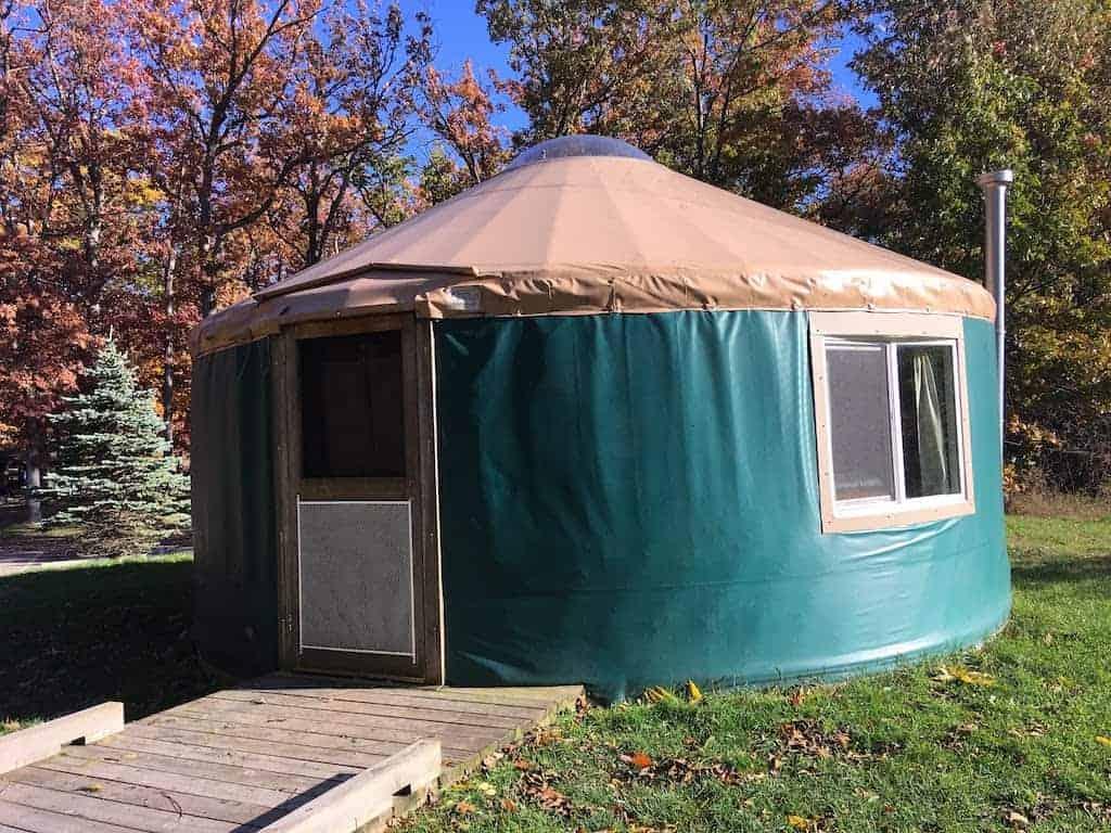 A yurt at Pinckney State Recreation Area