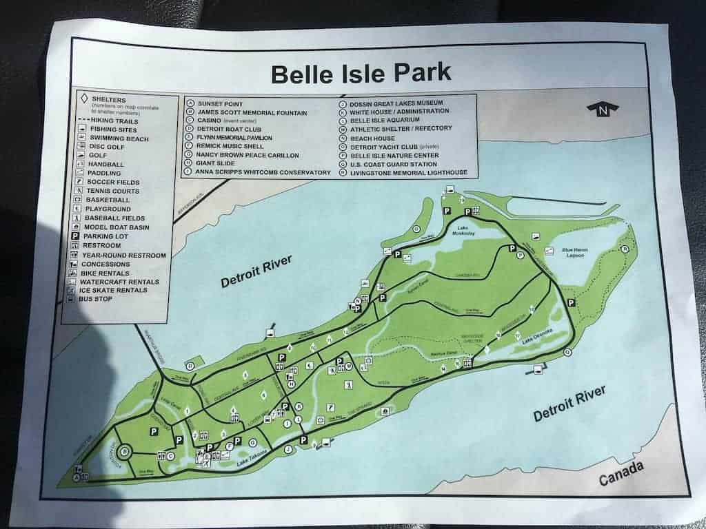 Map of Belle Isle